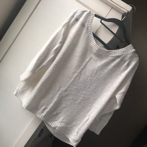 Open back white sweater from Express